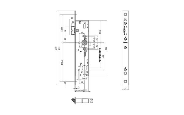 BKS B-19130-00-U-X_na00 Produkt-Zeichnung