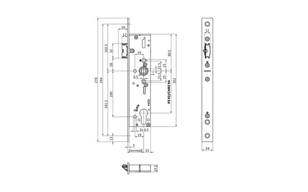 BKS B-19160-00-U-X_na00 Produkt-Zeichnung