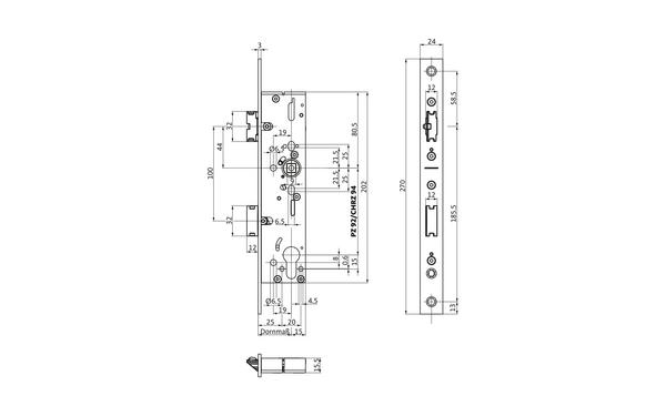 BKS B-19200-00-U-X_na00 Produkt-Zeichnung