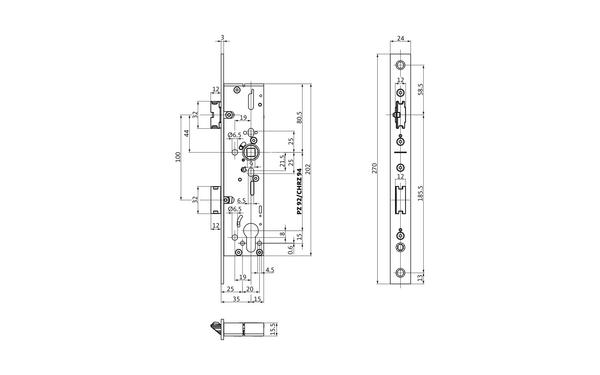 BKS B-19260-00-U-X_na00 Produkt-Zeichnung