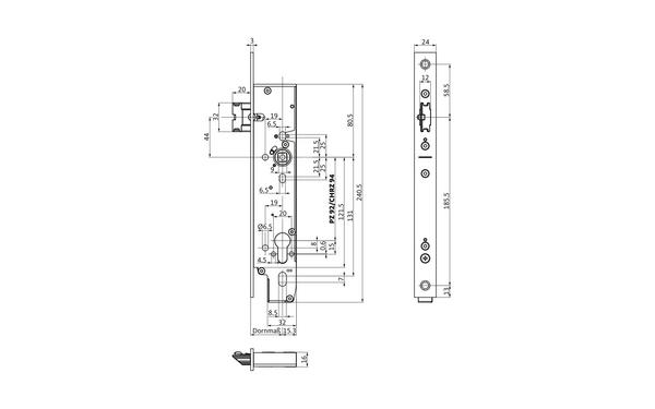 BKS B-19750-00-U-X_na00 Produkt-Zeichnung