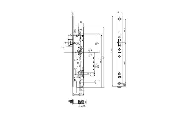 BKS B-19800-00-U-X_na00 Produkt-Zeichnung
