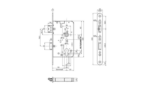 BKS B-21200-06-L-X_na00 Produkt-Zeichnung