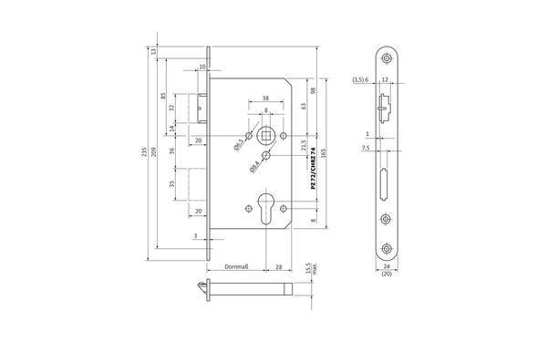 BKS B 2124 0001_na00 Produkt-Zeichnung