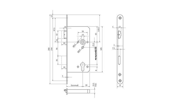 BKS B 2154 0001_na00 Produkt-Zeichnung