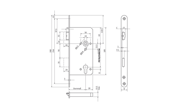 BKS B 2156 0001_na00 Produkt-Zeichnung