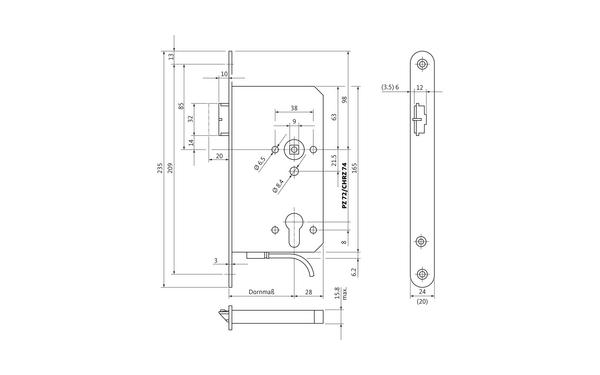 BKS B 2170 0003_na00 Produkt-Zeichnung