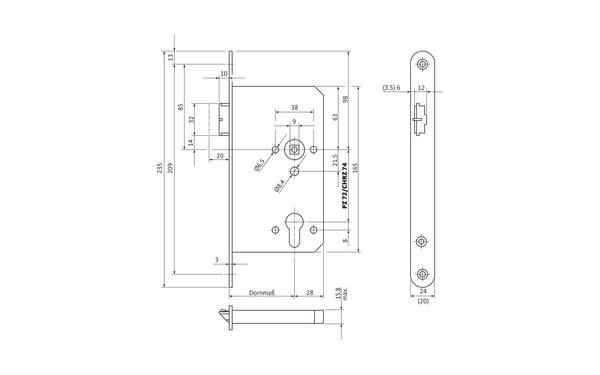 BKS B 2170 8003_na00 Produkt-Zeichnung