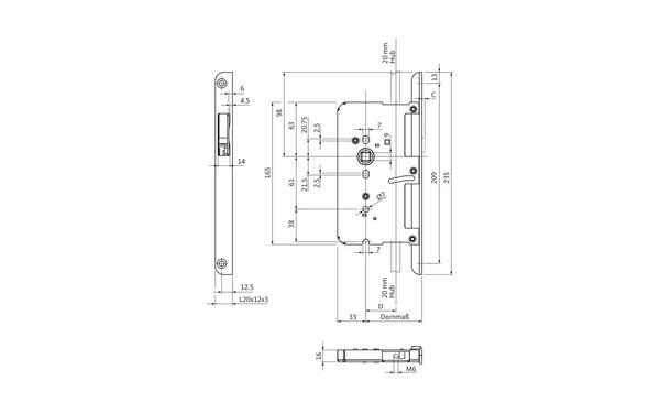 BKS B 2190 1012_na00 Produkt-Zeichnung