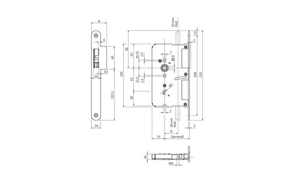 BKS B 2190 1206_na00 Produkt-Zeichnung