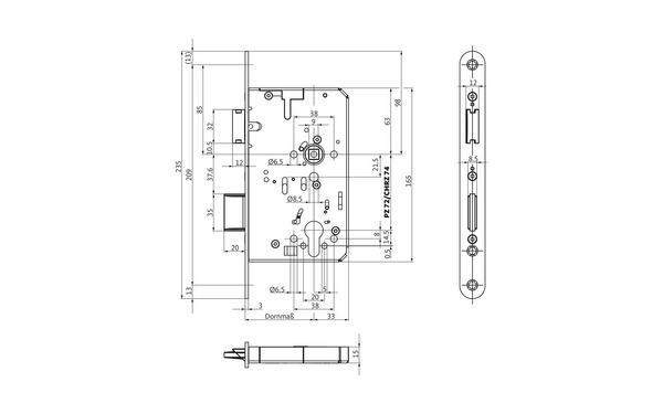 BKS B-23220-00-L-X_na00 Produkt-Zeichnung