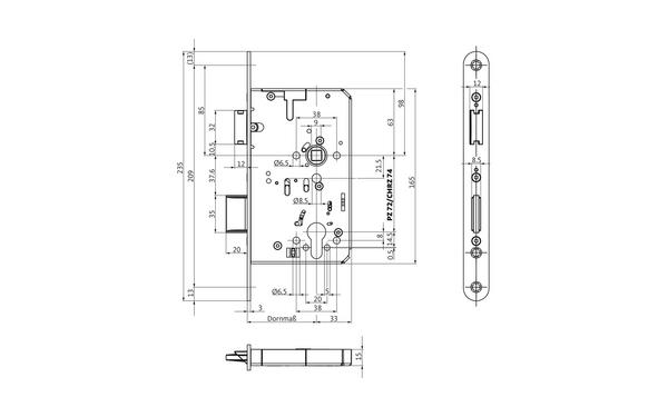 BKS B-23260-00-L-X_na00 Produkt-Zeichnung