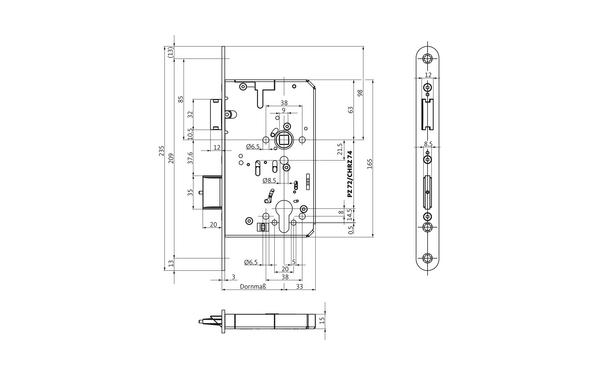 BKS B-23270-00-L-X_na00 Produkt-Zeichnung