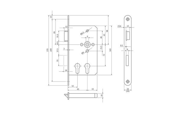 BKS B 2328 0001_na00 Produkt-Zeichnung