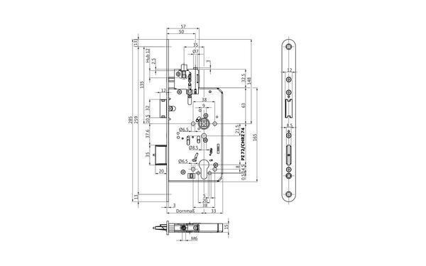 BKS B-23350-00-L-X_na00 Produkt-Zeichnung