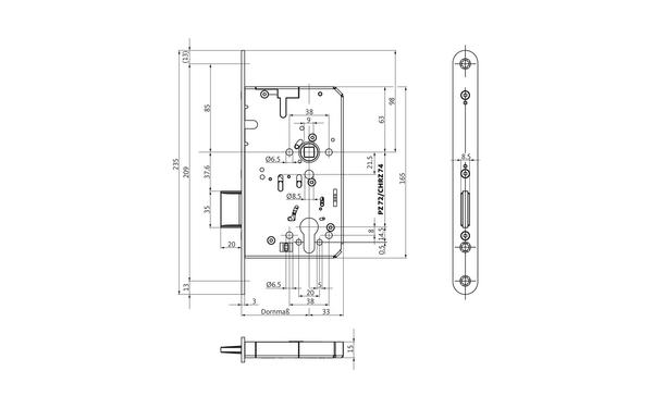 BKS B-23480-00-L-X_na00 Produkt-Zeichnung