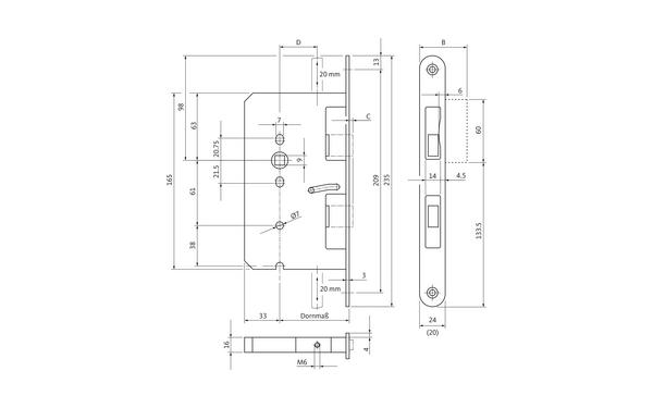 BKS B 2390 0278_na00 Produkt-Zeichnung