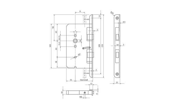 BKS B 2390 0293_na00 Produkt-Zeichnung
