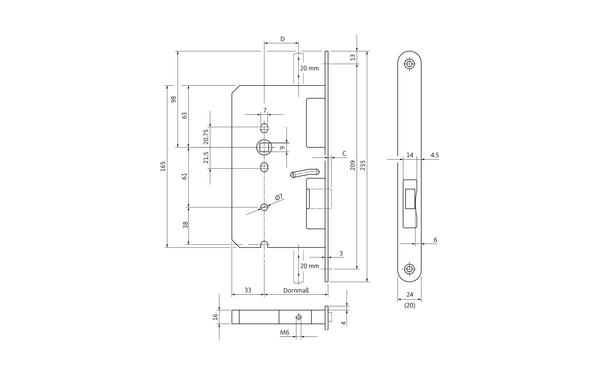 BKS B 2391 0258_na00 Produkt-Zeichnung