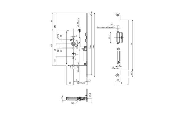 BKS B 2392 0231_na00 Produkt-Zeichnung