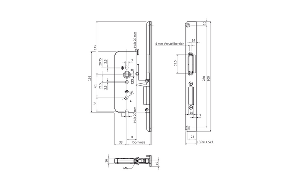 BKS B 2392 0237_na00 Produkt-Zeichnung
