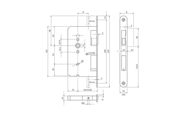 BKS B 2394 0310_na00 Produkt-Zeichnung
