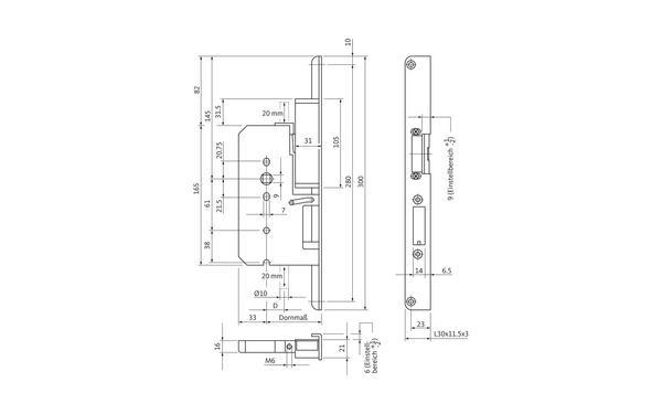 BKS B 2397 0239_na00 Produkt-Zeichnung