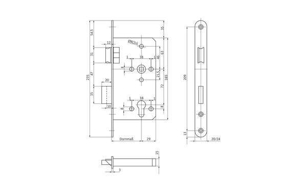 BKS B-24550-02-0-X_na00 Produkt-Zeichnung