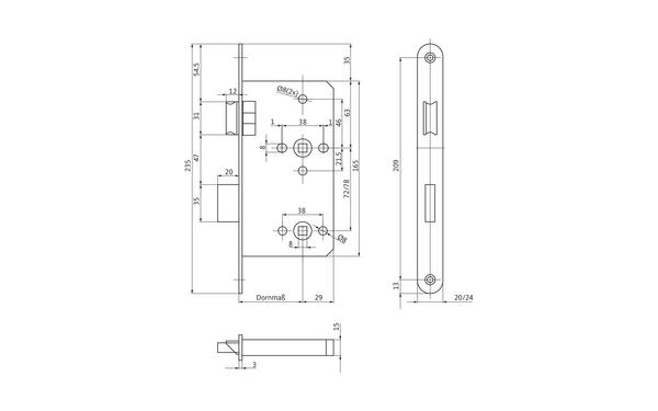 BKS B-24553-00-0-X_na00 Produkt-Zeichnung