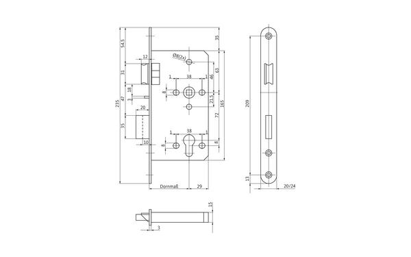 BKS B-24556-00-0-X_na00 Produkt-Zeichnung