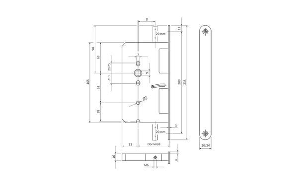 BKS B 2495 0204_na00 Produkt-Zeichnung
