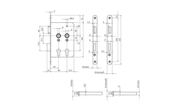 BKS B 6043 0215_na00 Produkt-Zeichnung