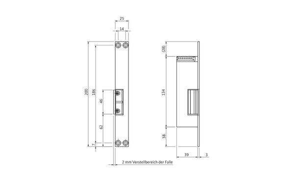 BKS Fluchttüröffner B5465 (Typ 331) B 5465 0030_na00_8z5