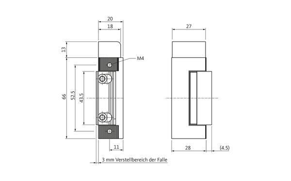 BKS Fluchttüröffner B5465 (Typ 331) B 5465 0400_na00_8z5