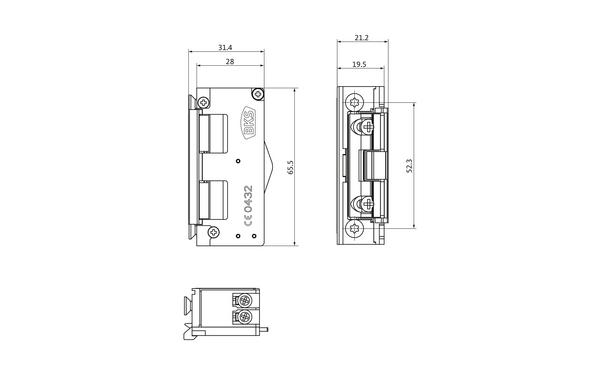 BKS Mechanischer Elektro-Türöffner Nr. 5 (B-9252) METÖ B-92520-00-0-X_na01_8z5