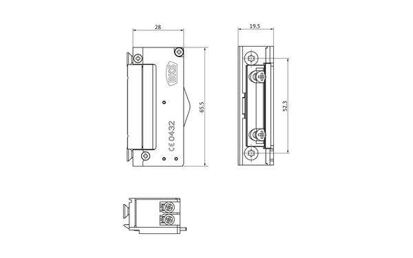 BKS Mechanischer Elektro-Türöffner Nr. 5 (B-9252) METÖ B-92520-20-0-X_na01_8z5