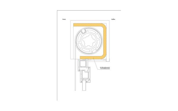 GU 8_skizze_gu-waermedaemmatte_schalldaemmmatte_706_09193_bl8 Produkt-Zeichnung