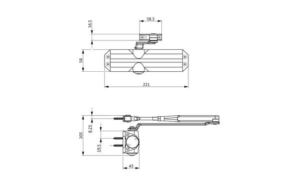 GU Abmessungen_OTS 140_8z5 Produkt-Zeichnung
