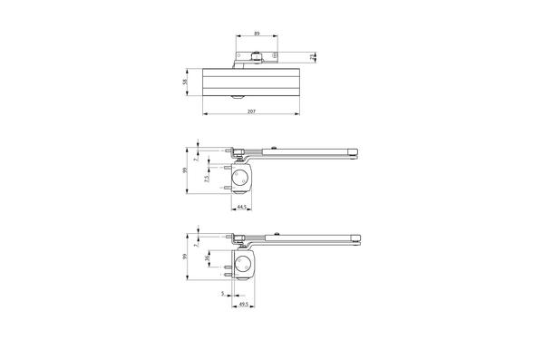 GU Abmessungen_OTS 210_8z5 Produkt-Zeichnung