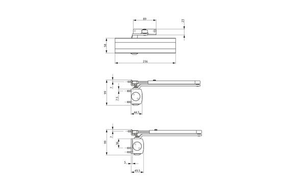 GU Abmessungen_OTS 430_8z5 Produkt-Zeichnung