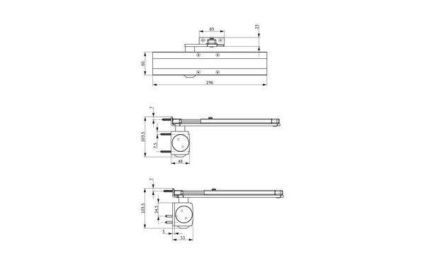 GU Abmessungen_OTS 536_8z5 Produkt-Zeichnung