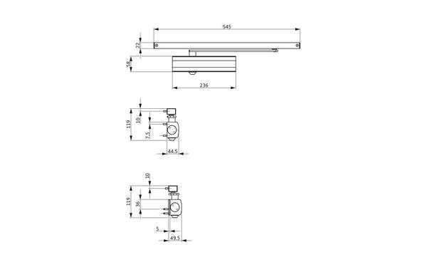 GU Abmessungen_OTS 633_8z5 Produkt-Zeichnung