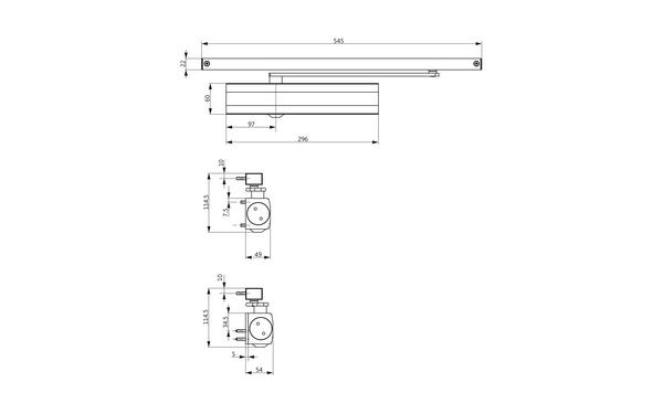 GU Abmessungen_OTS 634_8z5 Produkt-Zeichnung
