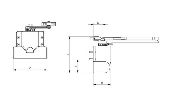 GU Abmessungen_OTS 80_8z5 Produkt-Zeichnung
