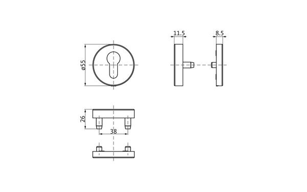 GU b-78820-0p-0-x_na00_8z5 Produkt-Zeichnung