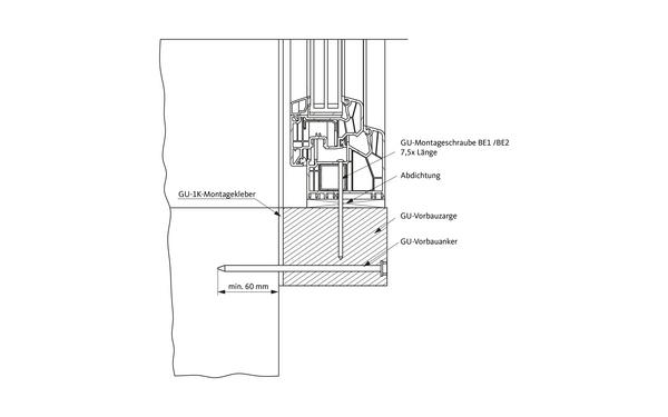 GU befestigung_vorbauanker_deu Produkt-Zeichnung