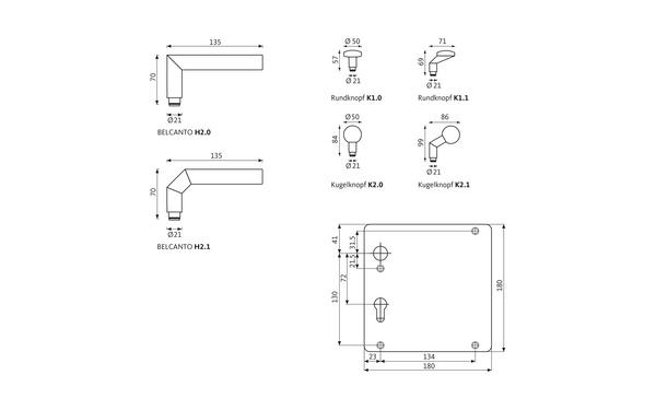 GU BELCANTO_Breitschild_Z_8z5 Produkt-Zeichnung