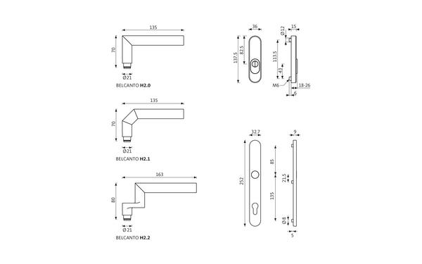 GU BELCANTO_ES1_Z_8z5 Produkt-Zeichnung