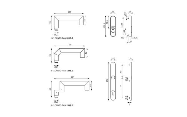 GU BELCANTO_PANIK_ES1_Z_8z5 Produkt-Zeichnung