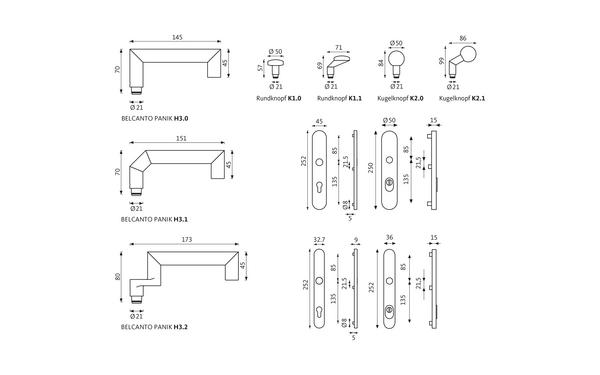 GU BELCANTO_PANIK_Schutzbeschlag_ES3_Z_8z5 Produkt-Zeichnung